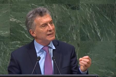 Presidente Mauricio Macri en la 73° Sesión de la Asamblea General de Naciones Unidas.